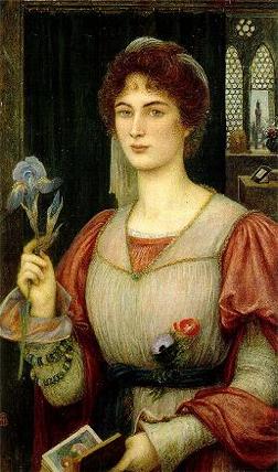 A Florentine Lily, by Marie Spartali Stillman